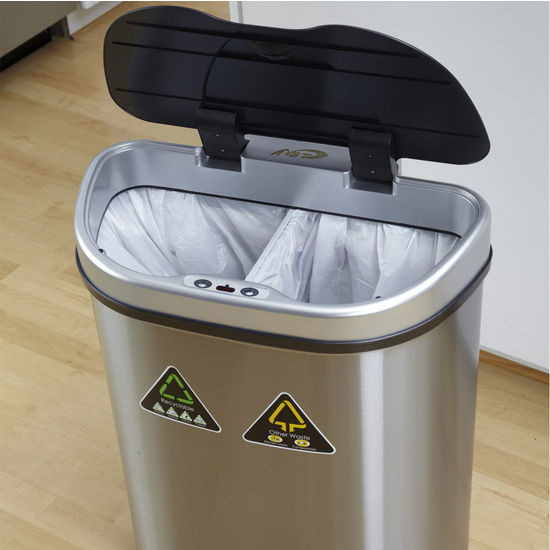 Trash Cans 18 1 2 Gallon Infrared Trash Can Recycling