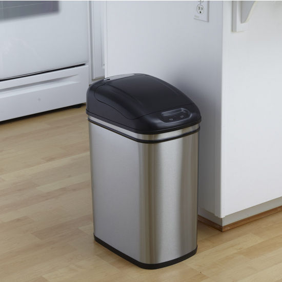 7.9 Gal., Stainless Steel Infrared Trash Can