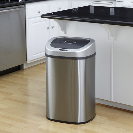 Nine Stars 21.1 Gallon Motion Sensor Trash Can Stainless Steel
