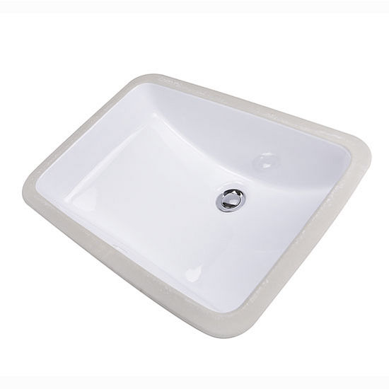 Charmant Nantucket Sinks Great Point Collection Glazed Bottom Undermount Rectangle  Ceramic Bathroom Sink In White, 20
