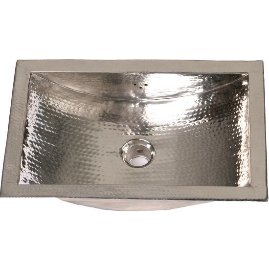 Bathroom Sinks Hammered Brass Or Nickel Undermount Drop