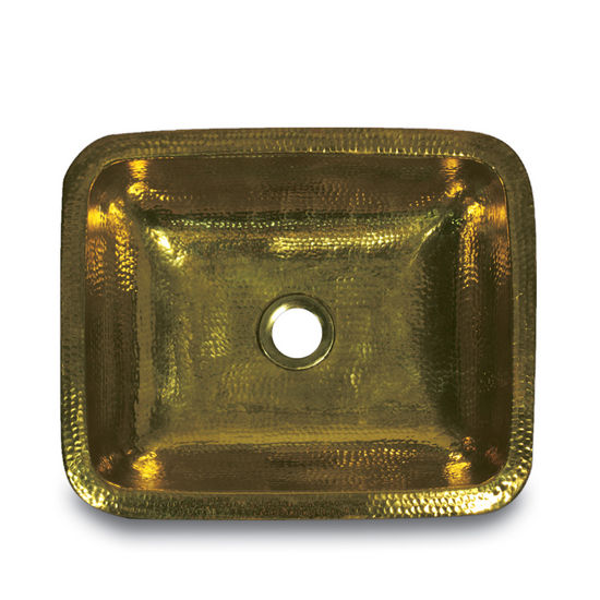 Brightwork Home Collection Rectangular Solid Brass