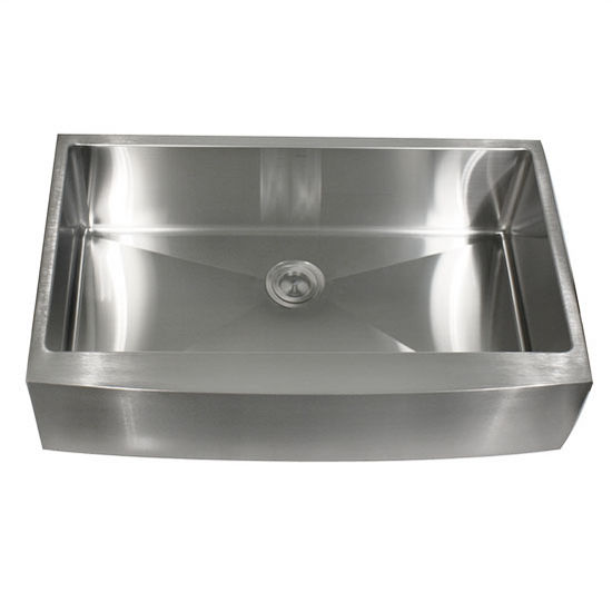 Nantucket Sinks 16-Gauge 304 Stainless Steel Zero Radius Apron Sink