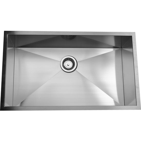 Nantucket Sinks 16-Gauge 304 Stainless Steel Zero Radius Sink