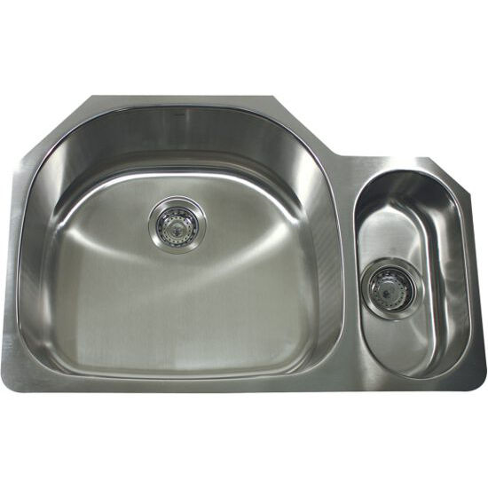 Nantucket 16 gauge stainless steel double bowl sink