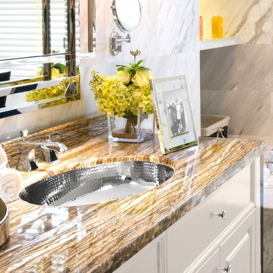 """Nantucket Sinks Brightwork Home Collection Hand Hammered Stainless Steel Oval Undermount Bathroom Sink with No Overflow, 17-3/4"""" W x 13-3/4"""" D x 5-1/2"""" H"""