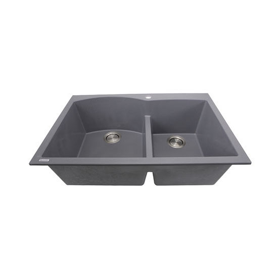 Plymouth Collection 60/40 Double Bowl Dual-Mount Granite Composite ...