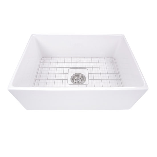 bottom grids for kitchen sinks cape collection 20 w 30 w farmhouse fireclay sink 7949