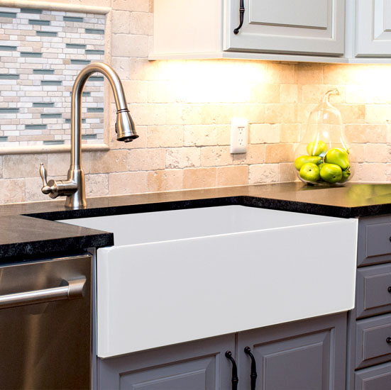 nantucket sinks cape collection 36   farmhouse fireclay sink with offset stainless steel drain and bottom cape collection 36   farmhouse fireclay reversible sink with offset      rh   kitchensource com