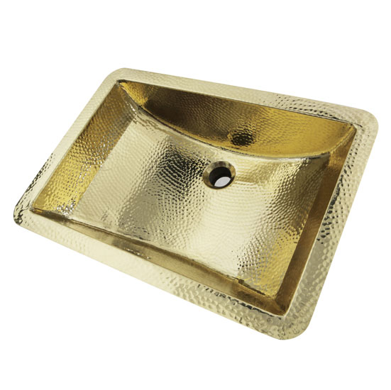 Hammered Undermount Bathroom Sink brightwork home collection hand hammered rectangle undermount
