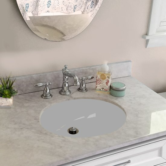 Great Collection Vitreous China Oval Bath Undermount Sinks