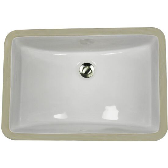 Great point collection rectangular undermount ceramic vanity bathroom sink in porcelain enamel for White rectangular undermount bathroom sink