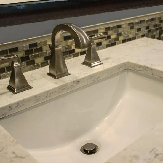 Great point collection rectangular undermount ceramic - How deep is a standard bathroom vanity ...