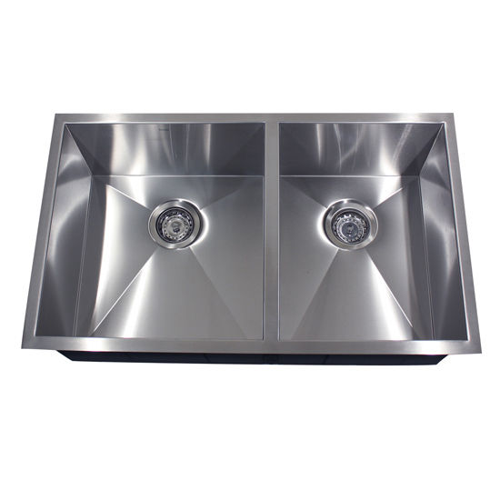 Double Bowl Offset Kitchen Sink