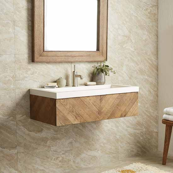 Pearl Sink and Vanity Set - Lifestyle View