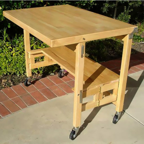 All Wood Flip and Fold Desk