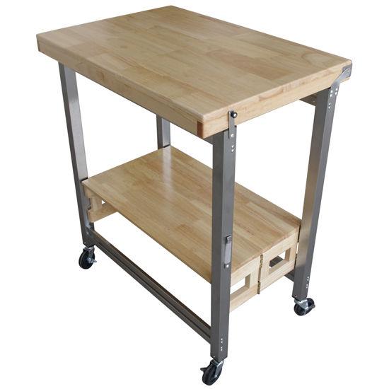kitchen carts kitchen folding carts by oasis kk 2001t4. Black Bedroom Furniture Sets. Home Design Ideas