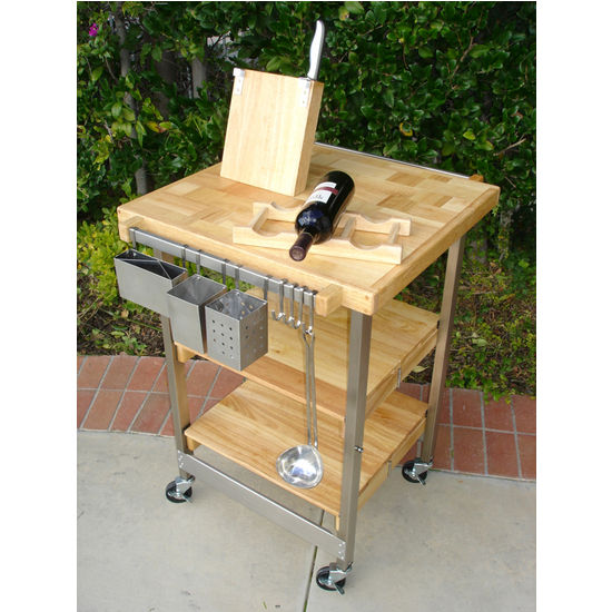 BBQ Folding Kitchen Cart by Oasis