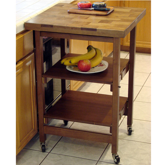 All Purpose Wood Folding Kitchen Cart by Oasis