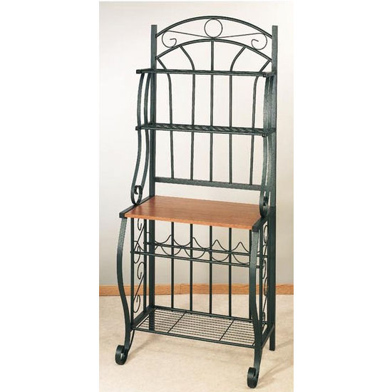Scroll Bakers Rack - Forest Green