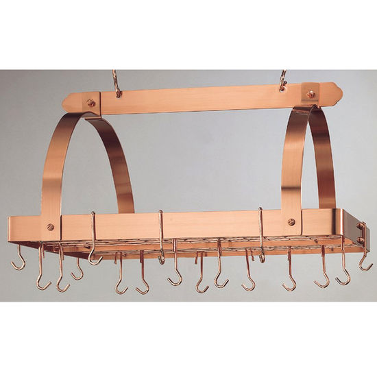 Hanging Rectangular Pot Racks w/ Grid