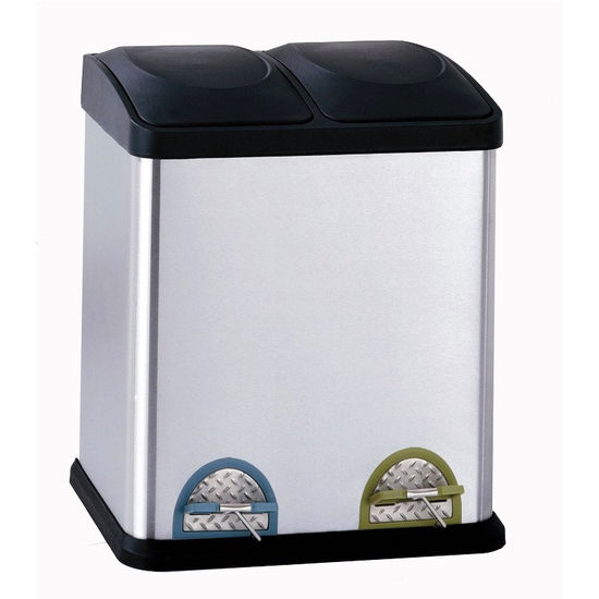 Neu Home Two Compartment Step-On Recycling Bin