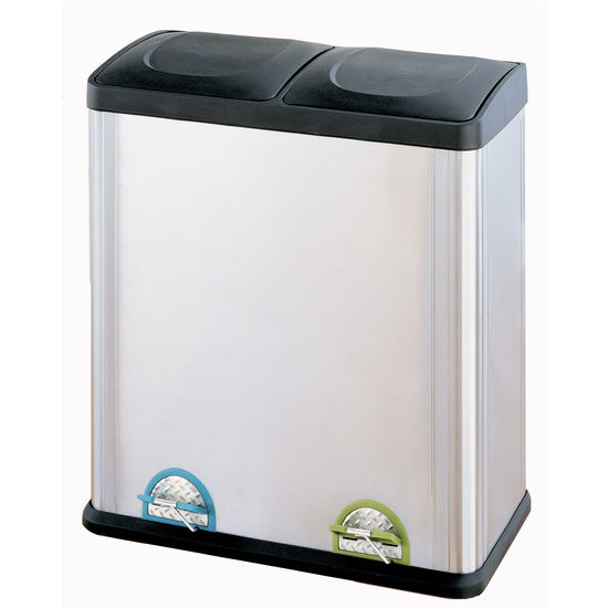 Neu Home Two Compartment Step-On Trash Can