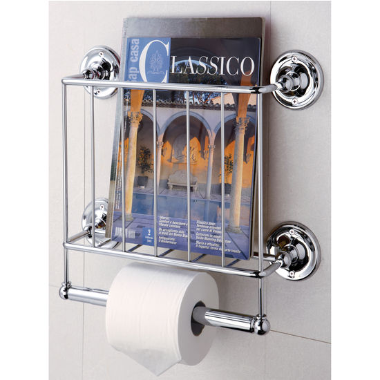 Neu Home Wall Mounted Magazine Rack With Toilet Paper Holder