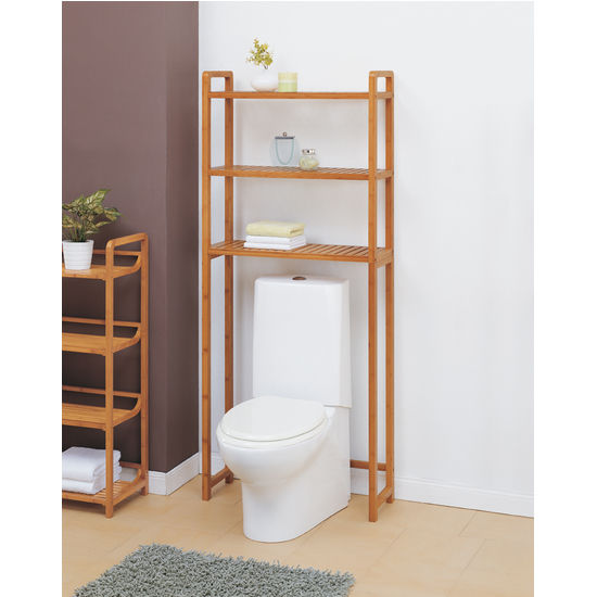 Bathroom Storage   Neu Home Lohas Collection Bamboo Spacesaver With Three  Shelves   KitchenSource.com