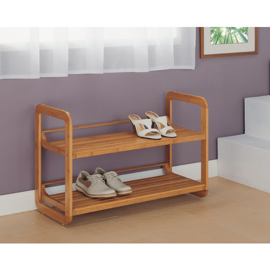 Neu Home Lohas Collection Bamboo Stackable Shoe Rack