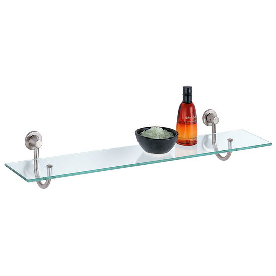 Neu Home Glass Shelf with Hook Mounts