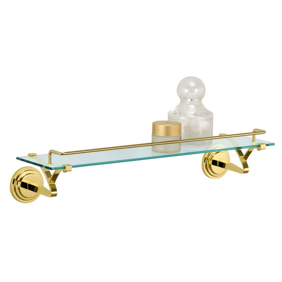 Glass Shelf with Mounts and Rail by Neu Home