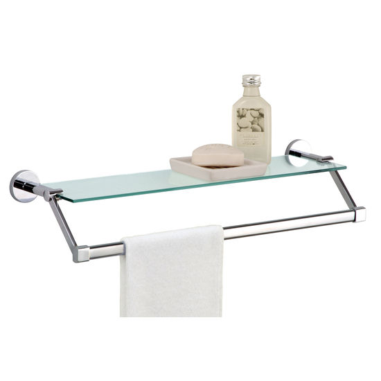 Glass Shelf with Extended Towel Bar by Neu Home