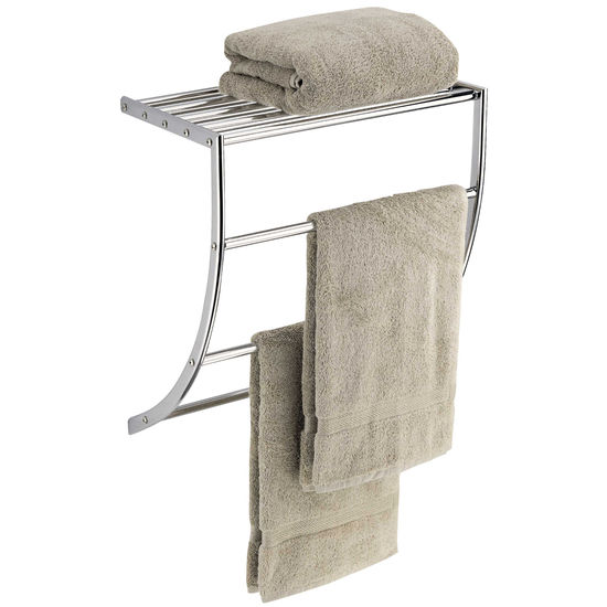 Curved Towel Rack with Shelf by Neu Home