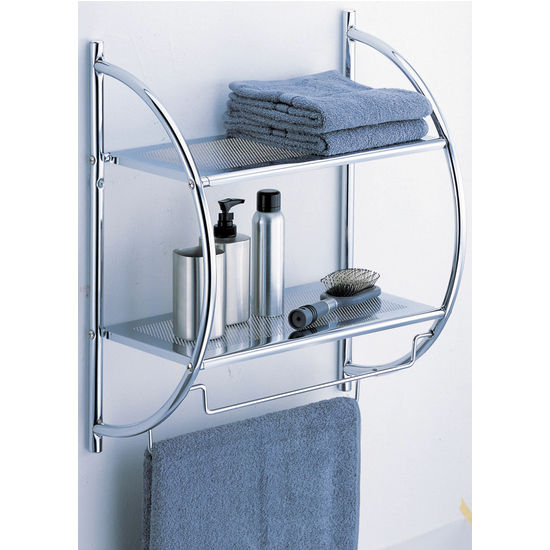 2 Tier Shelf with Towel Bars by Neu Home