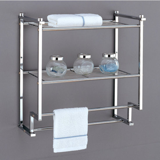 Neu Home Metro Collection 2 Tier Wall Mounting Rack