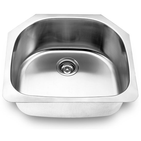 Yosemite Home Decor Undermount Single Bowl Kitchen Sink