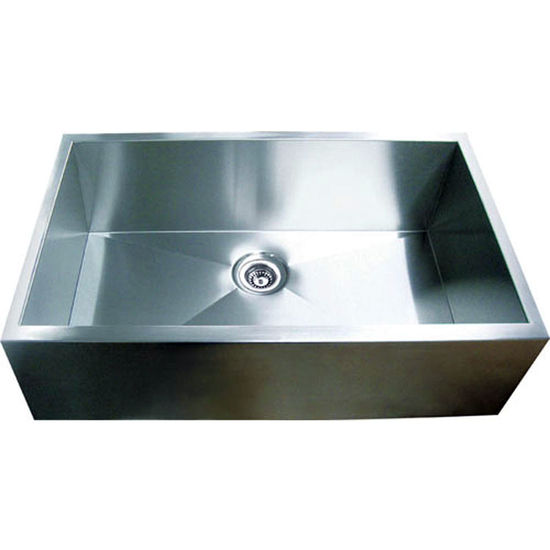 Yosemite Home Décor Straight Apron Single Bowl Kitchen Sink