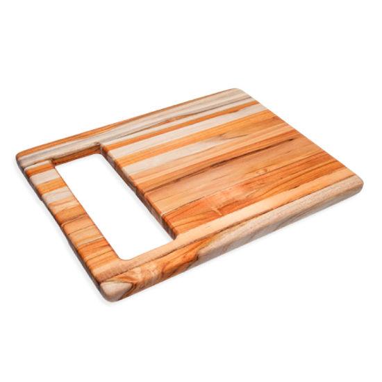 Proteak Marine Collection Chop & Slide Cutting Board, 15-1/2''W x 12''D x 3/4''H