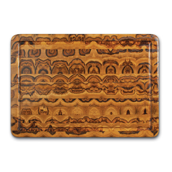 "Proteak End Grain Rectangle Cutting Board, 20"" W x 14"" D x 2-1/2"" H, with Hand Grip and Juice Canal"