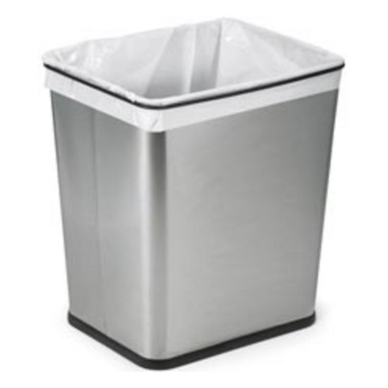 Trash Cans Polder 7 Gallon Brushed Stainless Steel