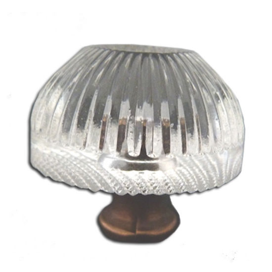 Premier Hardware Designs Crystal Knob Collection 1-1/16'' Diameter Traditional Clear Faceted Knob With Solid Pewter Base in Shiny Pewter, Available in Multiple Base Finishes