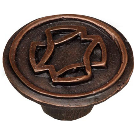 Celtic� knob shown in Antique Copper
