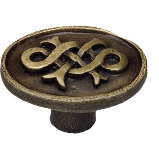 Celtic� knob shown in Antique Brass