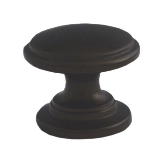 Premier Hardware Designs Traditional Zinc Knob With Step Design in Oil Rubbed Bronze, 1-1/8'' Diameter x 1'' D x 1'' H