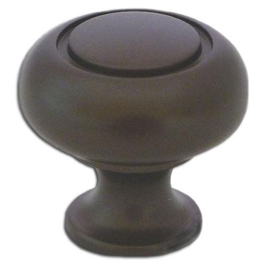 Premier Hardware Designs Traditional Zinc Knob With Circle Cut Design in Oil Rubbed Bronze, 1-1/4'' Diameter x 1-3/16'' D x 1-3/16'' H