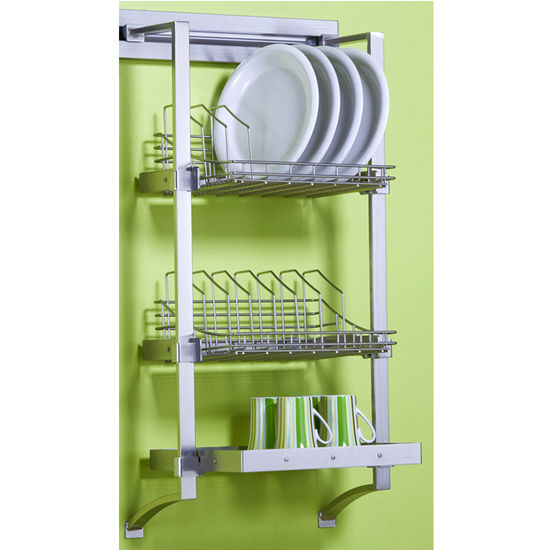Shelves - 18\'\' Plate Rack Set by pegRAIL | KitchenSource.com