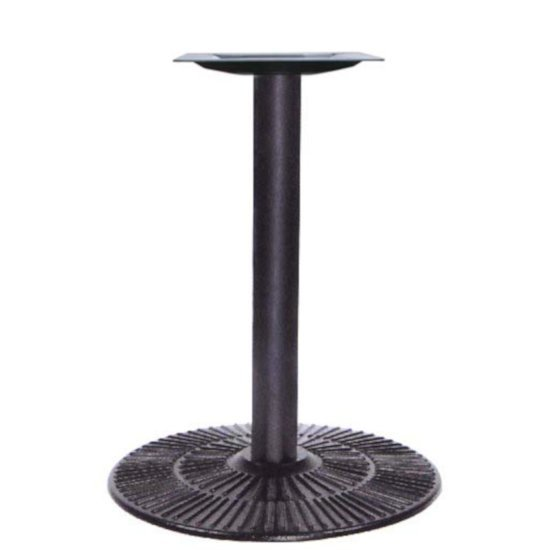 "Peter Meier 3000 Series Signature Line Radient Table Base, 22"" Round Table Height in Black Mattee, Base Spread: 22"" Diameter, Spider Spread: 12"" Diameter, Height: 29"" H"