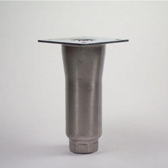 """Peter Meier 553 Heavy Duty Equipment Leg Series, Single Flared Equipment Leg in Stainless Steel, 2 - 2-3/4"""" Diameter x 6"""" H"""