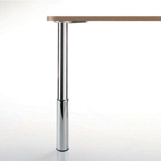 "Peter Meier Studio Table Leg Series, Single or Set of 4, Table Height Legs in Multiple Finishes, 2"" Diametes x 24"" - 31"" H"